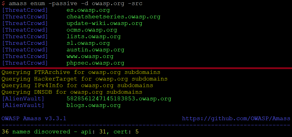 OWASP Amass enum tutorial for subdomain discovery