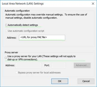 Setting a PAC file location in Group Policy